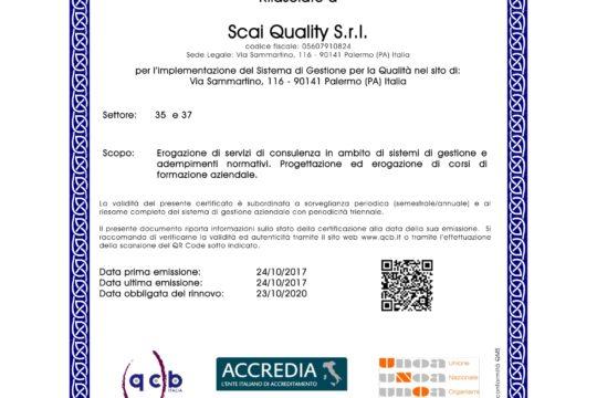2017-10-24_SCAI QUALITY_ Certificazione Qualità-1